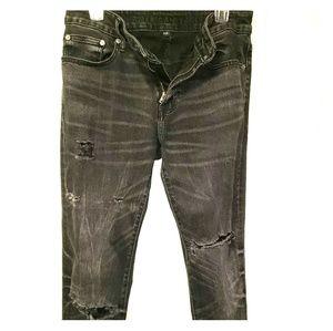 Men 31×34 distressed American Eagle flex fit jeans
